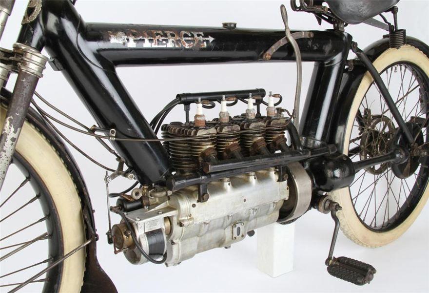 One Of 12 Surviving 1911 Pierce Motorcycles To Cross The B Hemmings Daily Motorcycle Bike Vintage Bikes