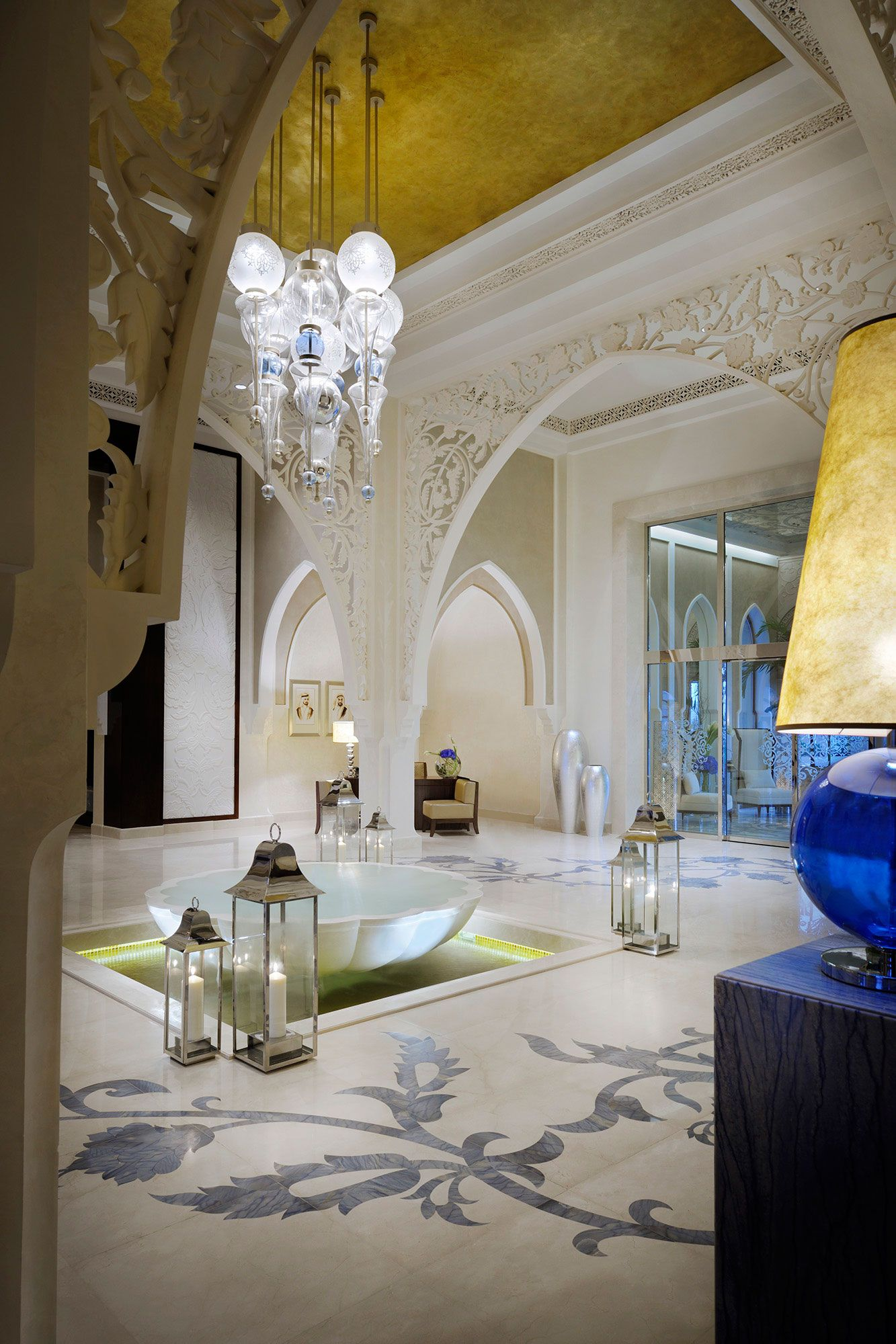 The One Only The Palm Is A Stunning Hotel Located In Dubai United Arab Emirate Spectacular Landscap Hotel Interior Design Moroccan Interiors Elegant Hotel