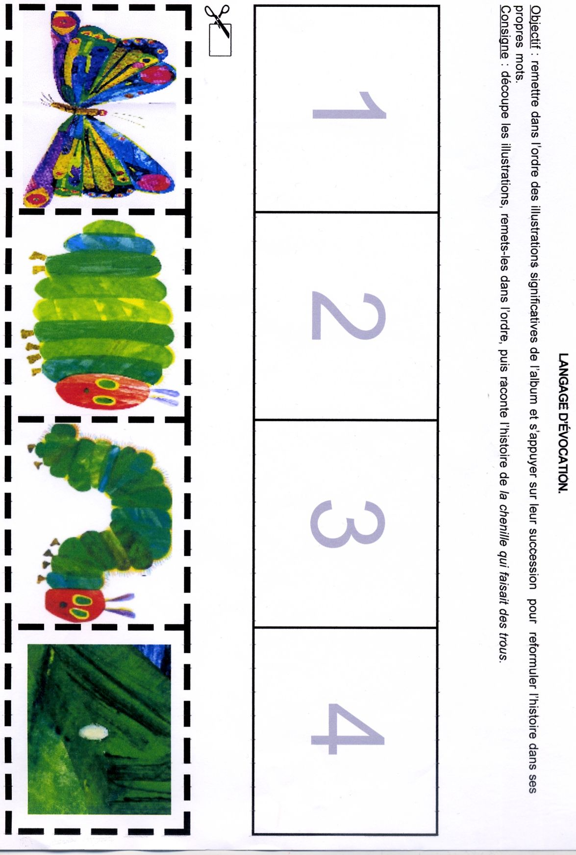Events Sequence Worksheet Kindergarten