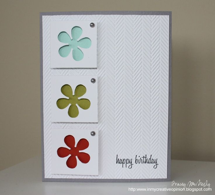 Charming Paper Craft Card Making Ideas Part - 14: Super Paper Craft Card. Need To Remember Negative Space On Punches Are Cute  Too.