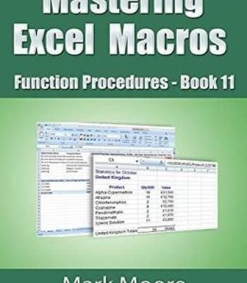 Mastering Excel Macros \u2013 Function Procedures (Book 11) PDF