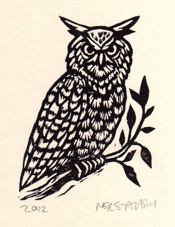 Owl Art Print Linocut Prints Owl Decor Rustic Wall Art Etsy In 2020 Linocut Prints Linocut Art Linocut #owl #decor #for #living #room