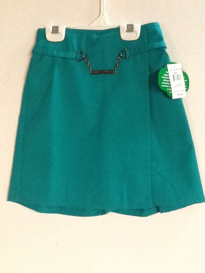 Girl Scouts Skort Green Small Medium Large Junior Skirt New! ID Tag #GirlScouts #SkirtSkort