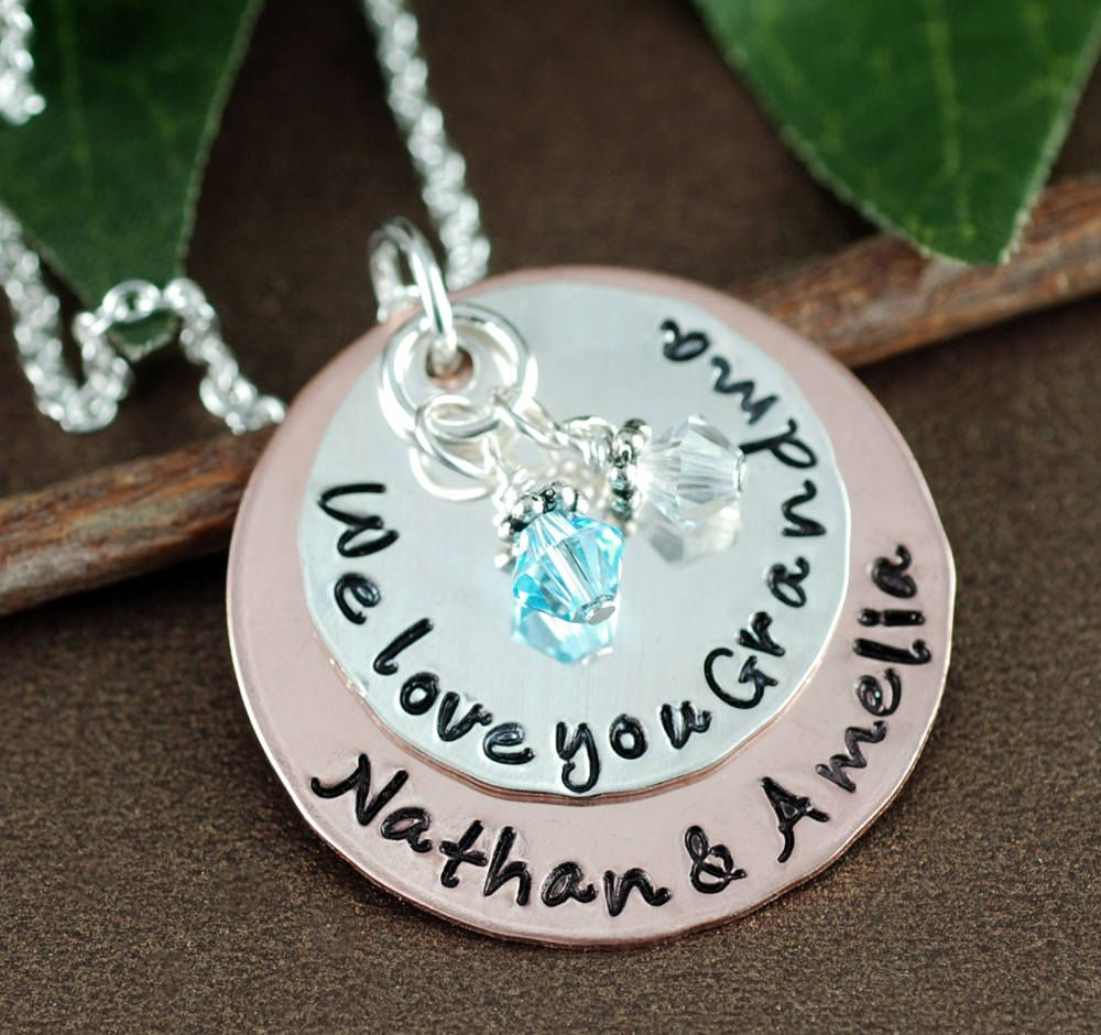 personalized grandma necklace personalized jewelry we love you