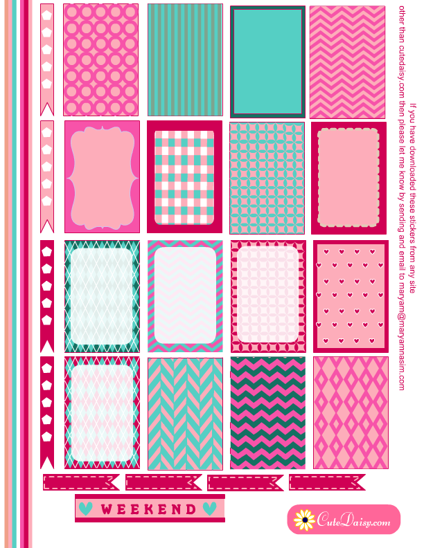 free printable stickers for happy planner in spring colors free rh pinterest com