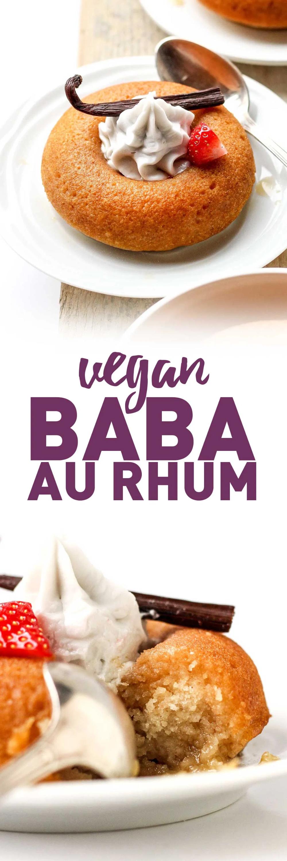 Easy Vegan Baba au Rhum - Full of Plants