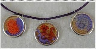 Big circle handpainted pendants