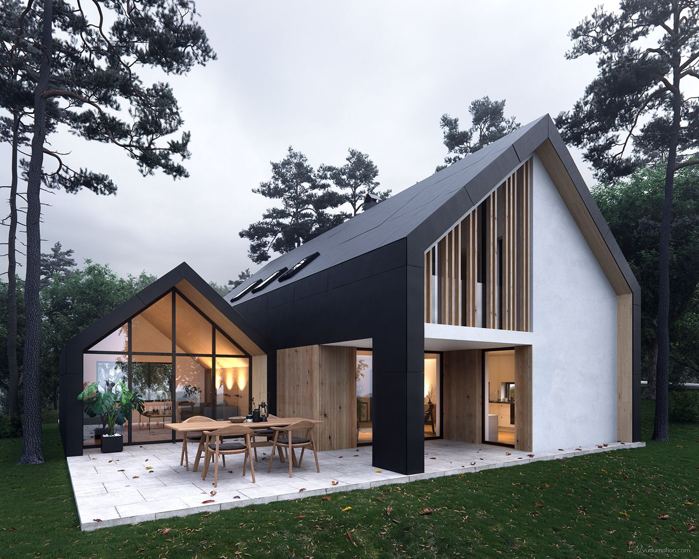 Pavilion house full cgi buitenkant huis in