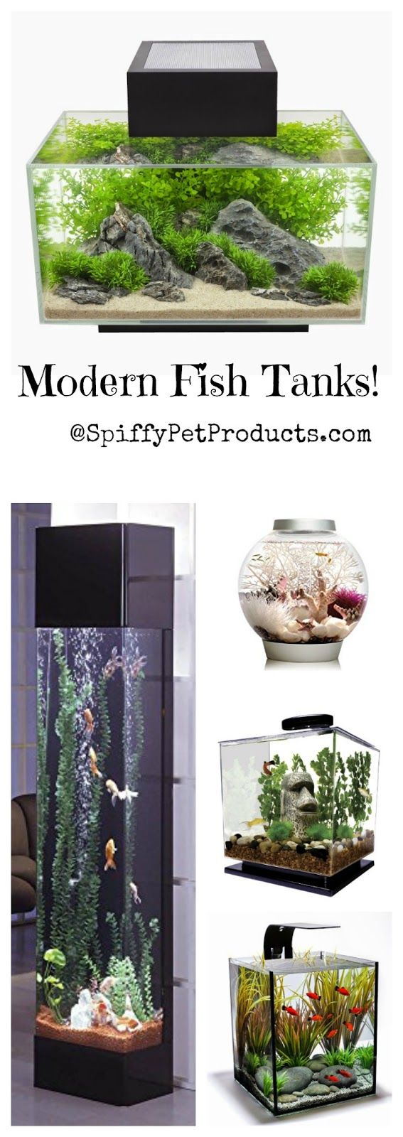 The Ultimate Guide To Modern Contemporary Fish Tanks With Big Style Spiffy Pet Products Cool Fish Tanks Modern Fish Tank Fish Tank