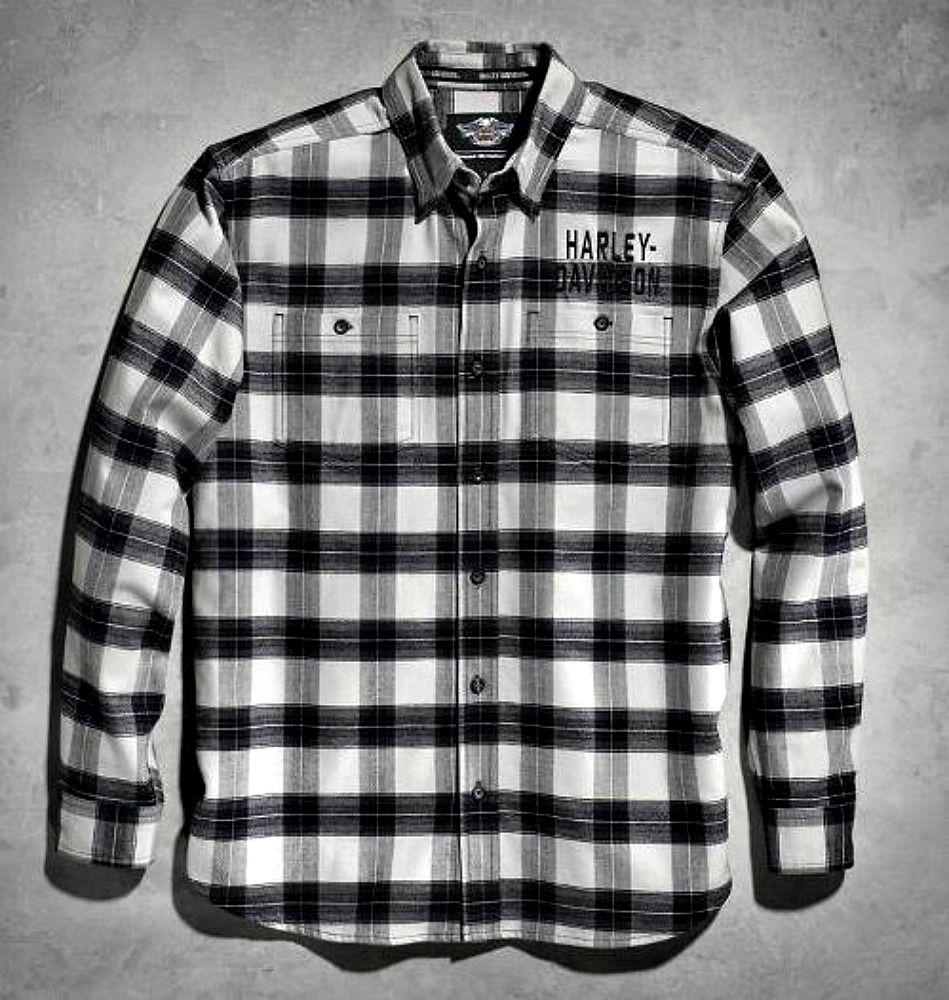 6dae019d5ef Harley-Davidson® Men s Black Plaid Flannel Shirt