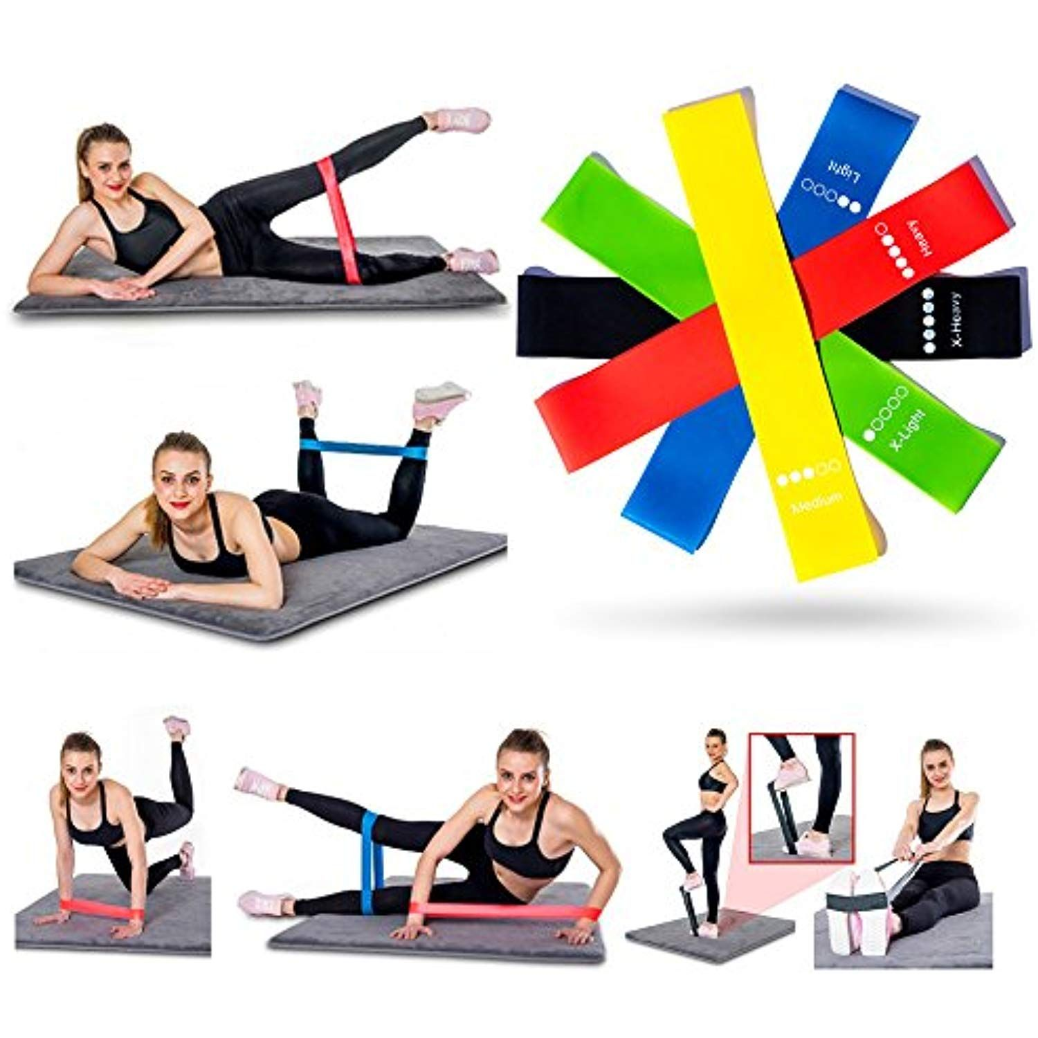 Resistance Band Training Fitness Strength Elastic Pull Butt Thigh Arm Toning New