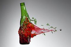 smashed bottle photography - Google Search