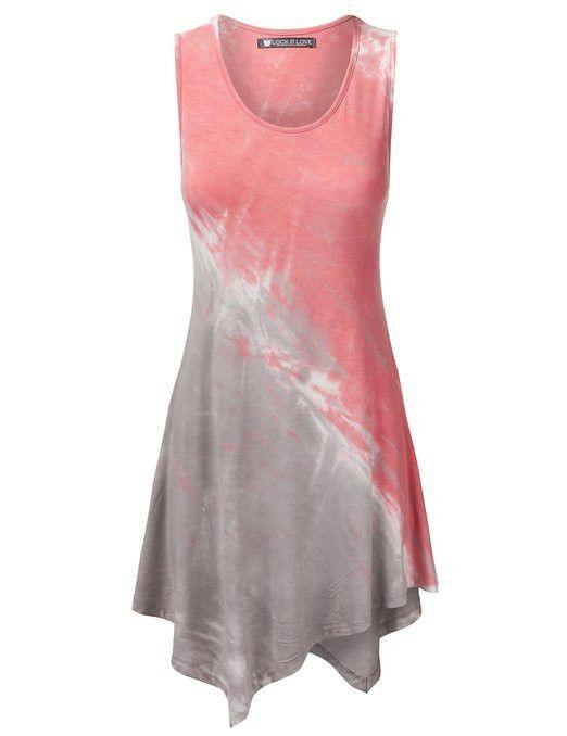 Sleeveless Tye Dye Tunic Top