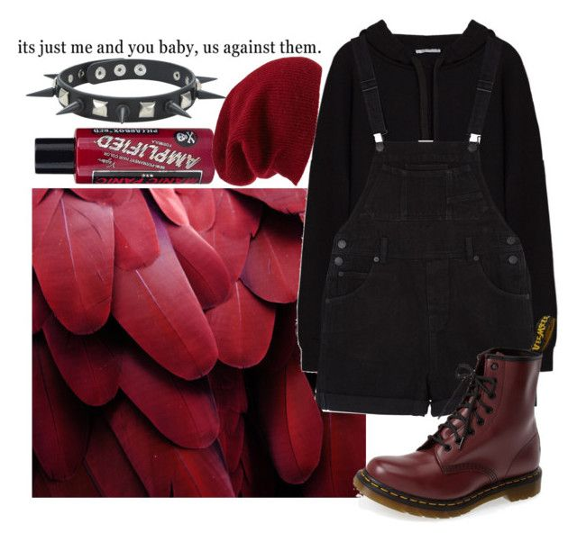 """You're the cherry, I'm a cigarette Chasing after midnight with you"" by biter-sweet on Polyvore featuring polyvore fashion style Monki Dr. Martens Hot Topic Halogen Manic Panic NYC clothing"