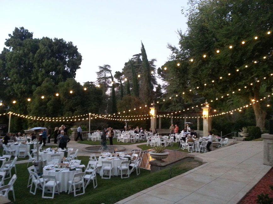 Italian Cafe String Lights Arrowhead Dj And Events Wedding At Kimberly