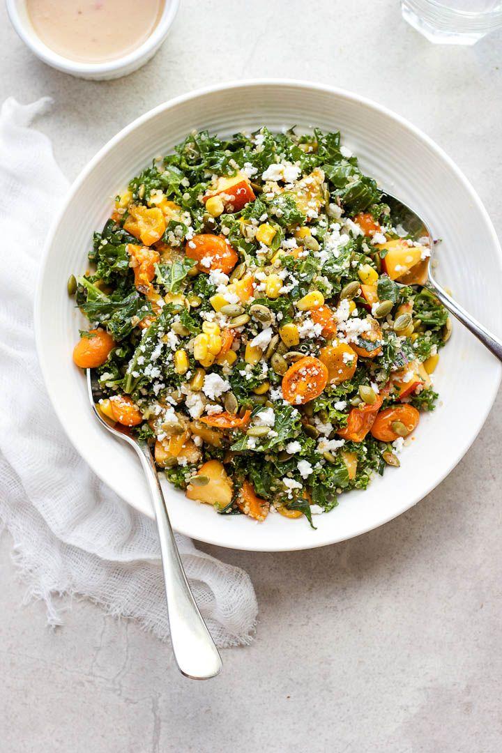 Summer Celebration Kale und Quinoa-Salat mit gerösteten Schalotten-Vinaigrette ⎮…