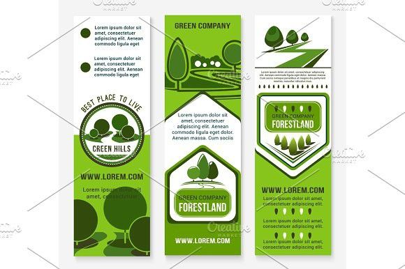 Eco Green Business Banner Template With Tree Green Business