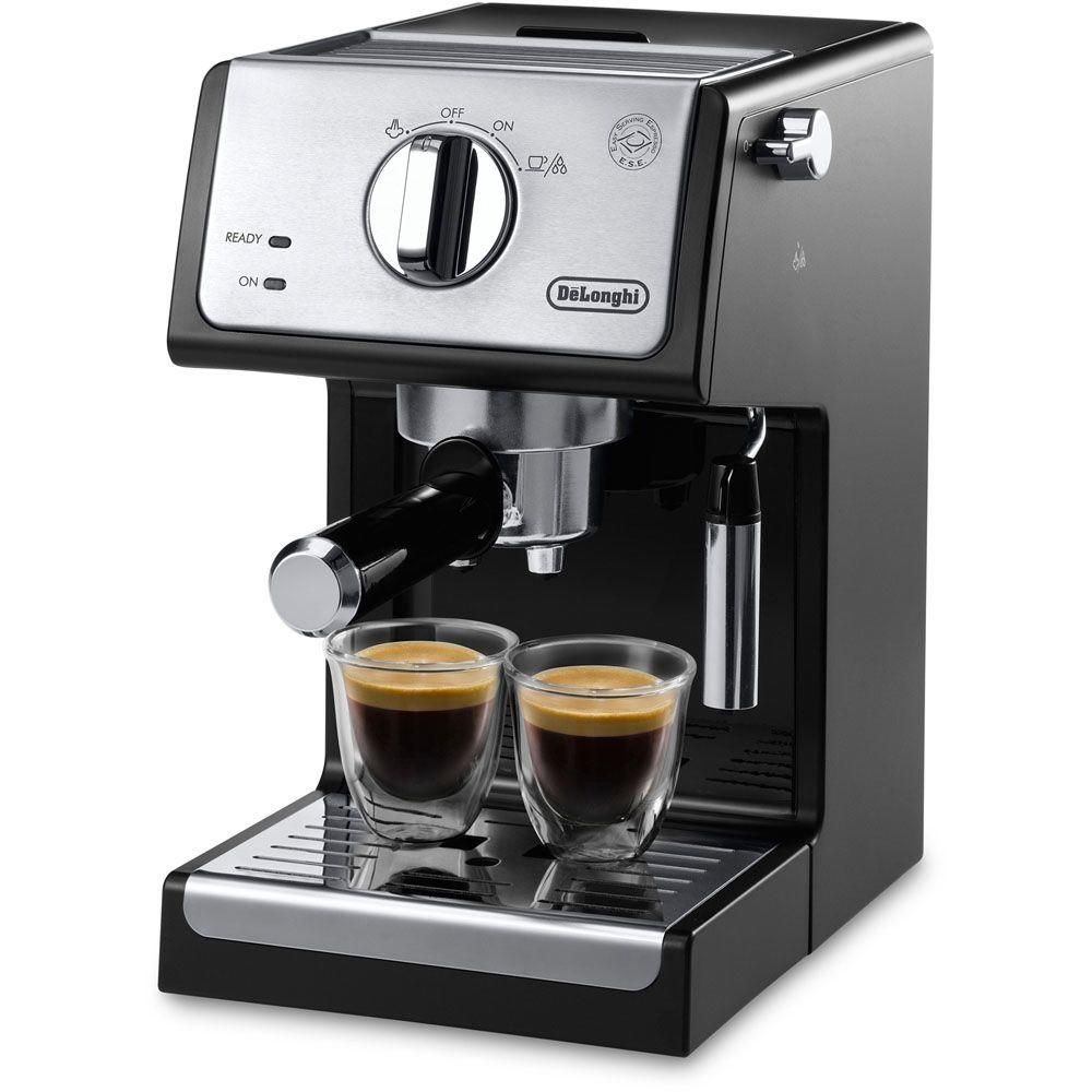 DeLonghi 15-Bar Black Stainless Steel Espresso Machine and Cappuccino Maker with Manual Frother ECP3420 #cappuccinomachine