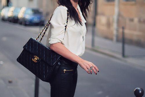 6980110bf6e1a8 Vintage Chanel Jumbo flap bag with big CC turn lock | Bags | Fashion ...