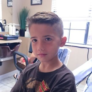 High Top Haircut With Undercut Style For Child