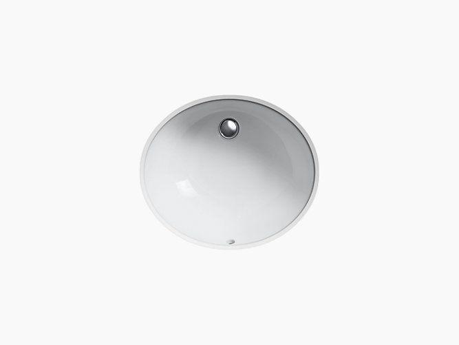 Install the ADA-compliant K-2210 bathroom sink beneath vanities and