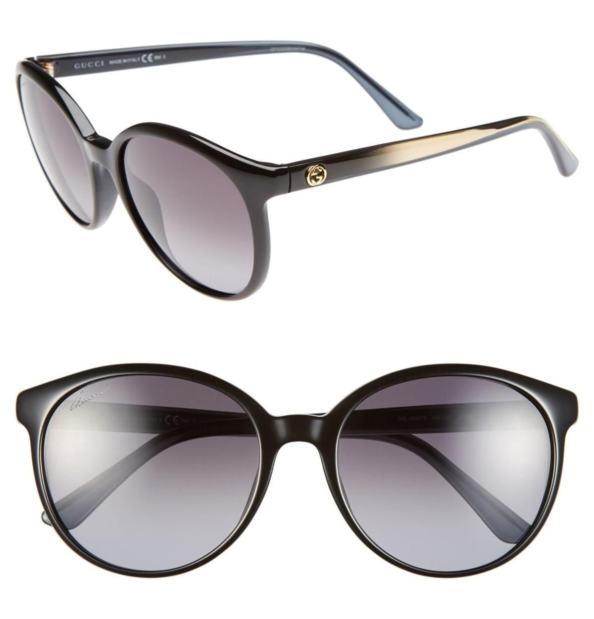 f3813c40be Black New 56mm Retro Shiny Gg 3697 S Sunglasses