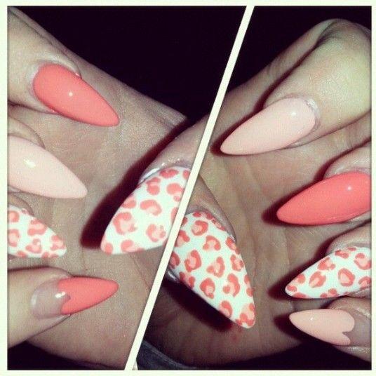 Pink Nails Animalier