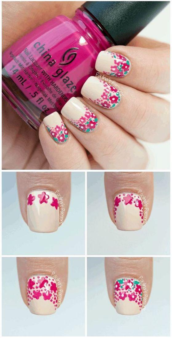 decoracion de uñas con flores | Nail art | Pinterest | Uñas con ...