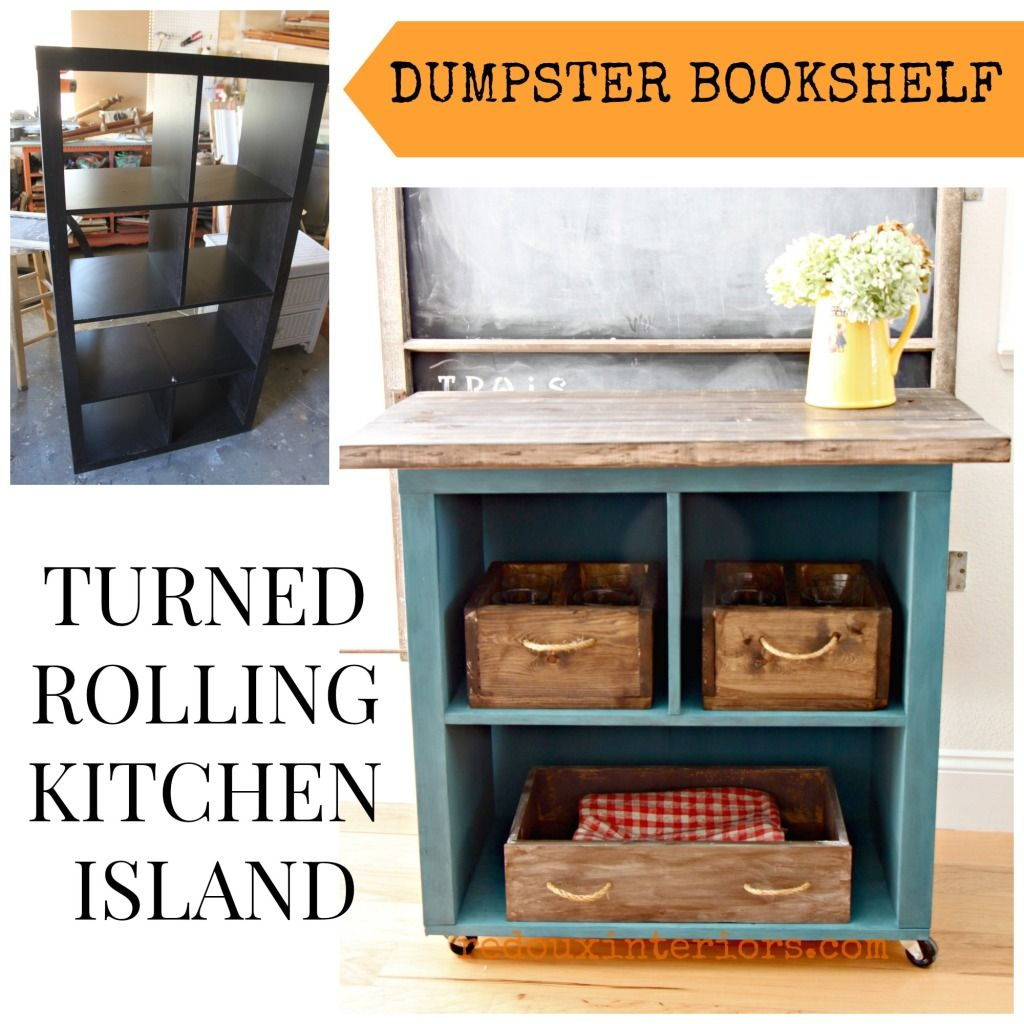 diy bookcase kitchen island. S 19 Incredible Kitchen Islands Made From Totally Unexpected Things, Design, Island, Repurposing Upcycling, IKEA Bookshelf Turned Rolling Diy Bookcase Island O