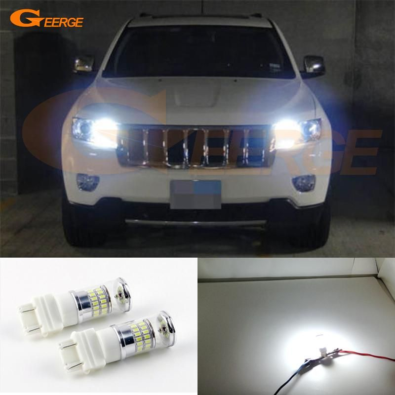 Excellent Xenon White Reflector 3157 Led Bulbs For Jeep Grand