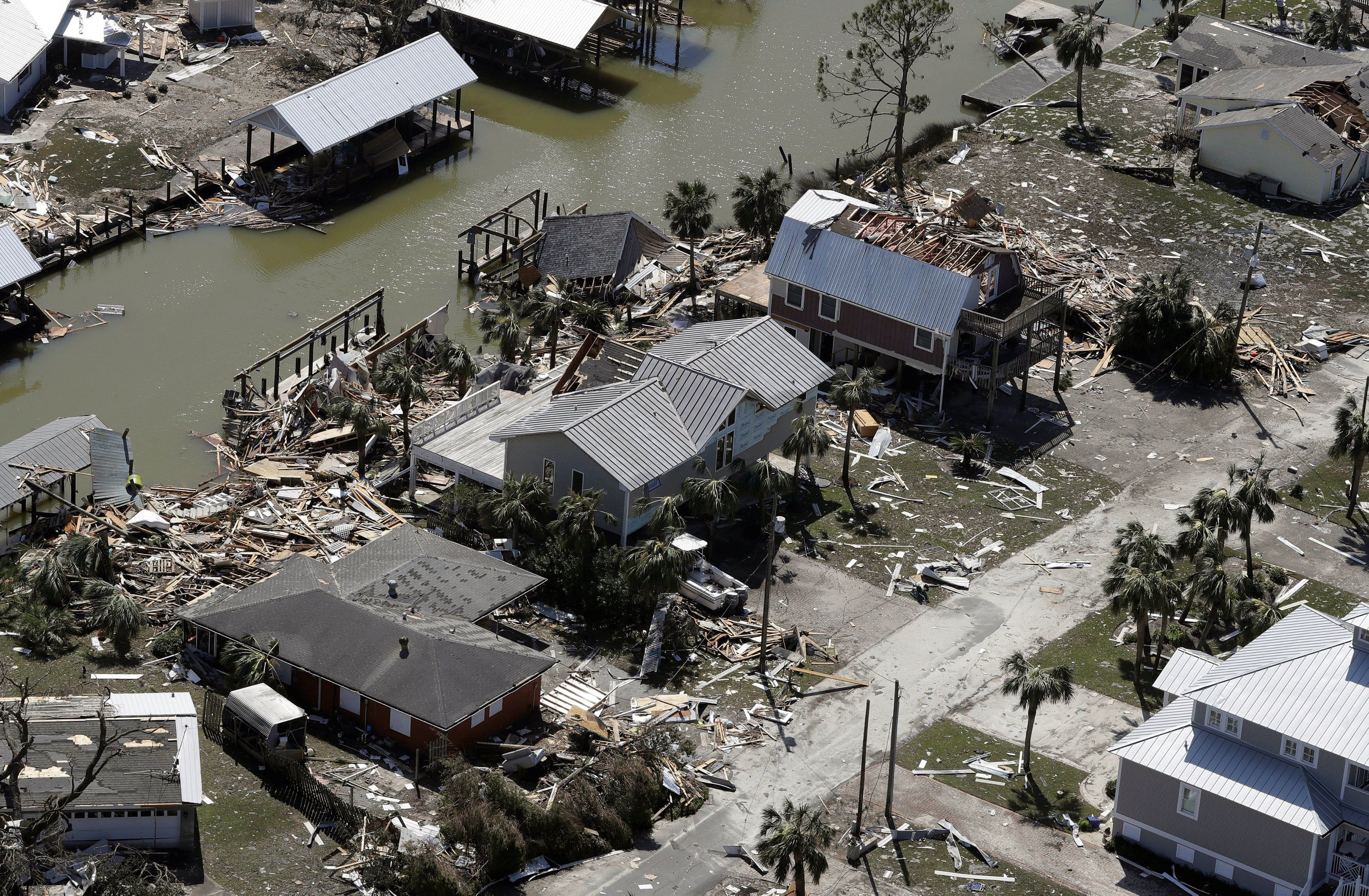Hurricane Michael Leaves Trail Of Devastation Through Florida In Pictures Disaster Relief Devastation Panama City Panama