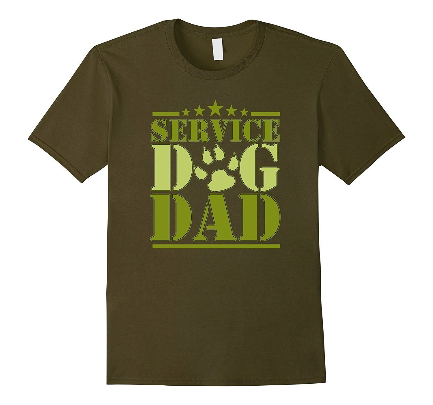 Men's Service Dog Dad Shirt for Disabled American