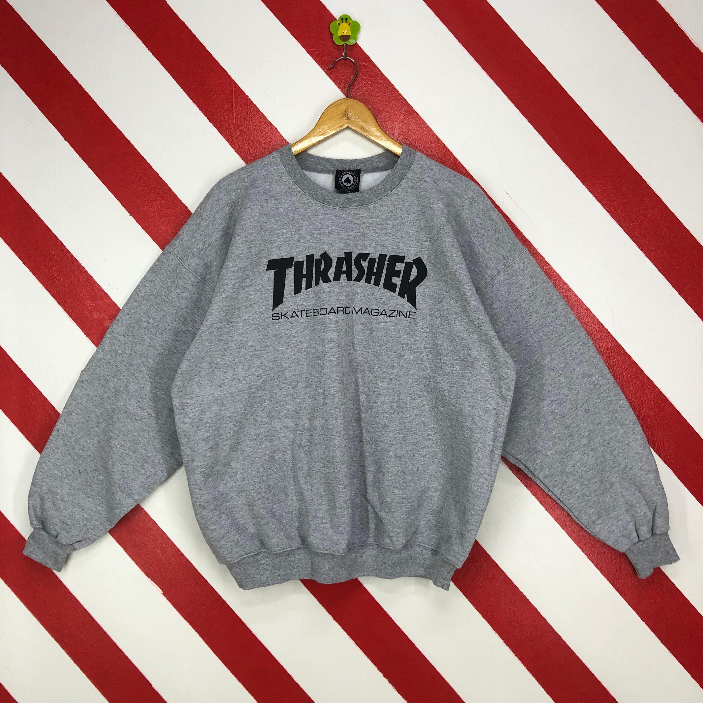 Vintage Thrasher Sweatshirt Thrasher Crewneck Thrasher Sweater Etsy Thrasher Sweatshirt Sweatshirts Nike Sweatshirts [ 3000 x 3000 Pixel ]