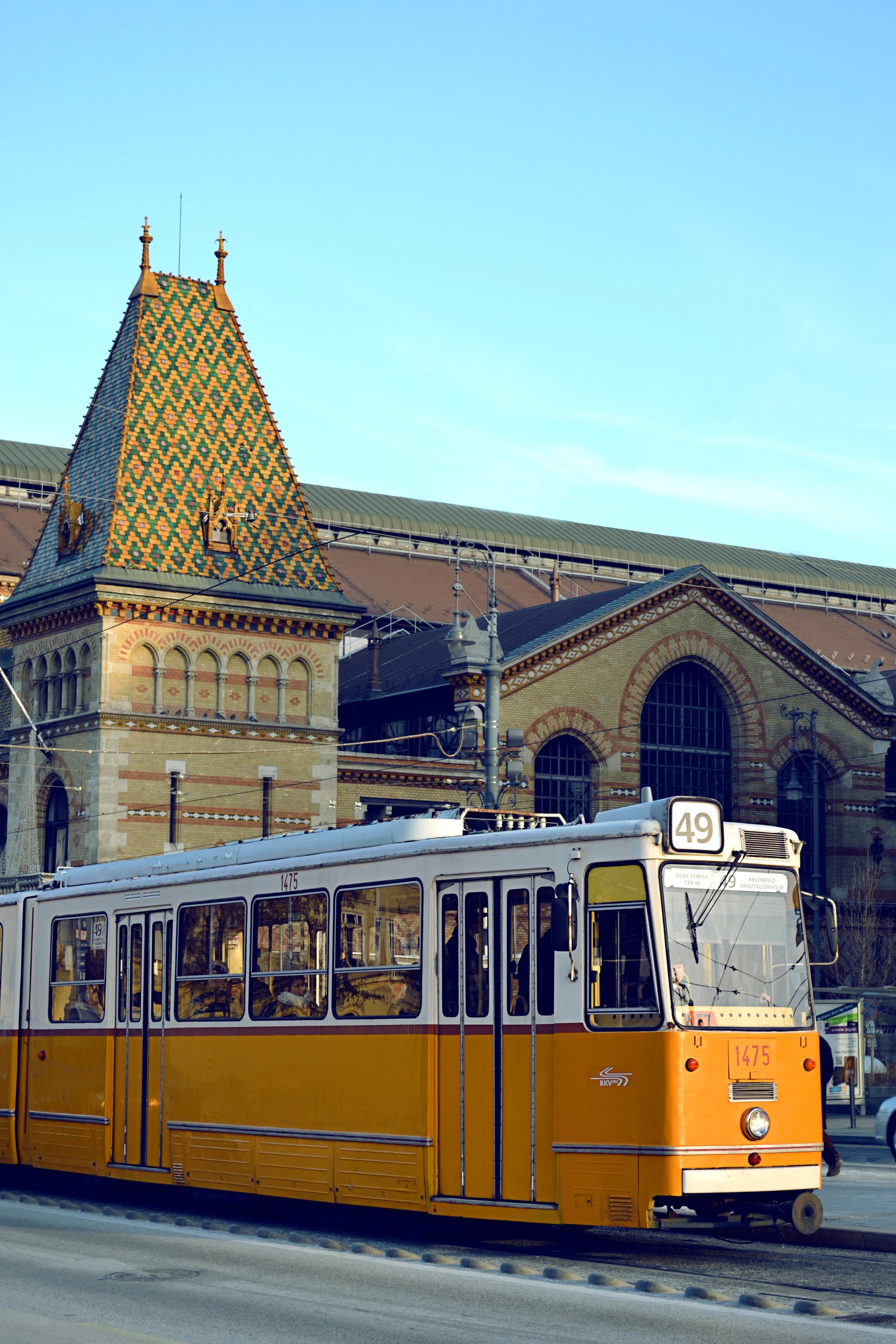 Budapest Hungary Closed Market Tram Budapest Hungary Budapest Europe