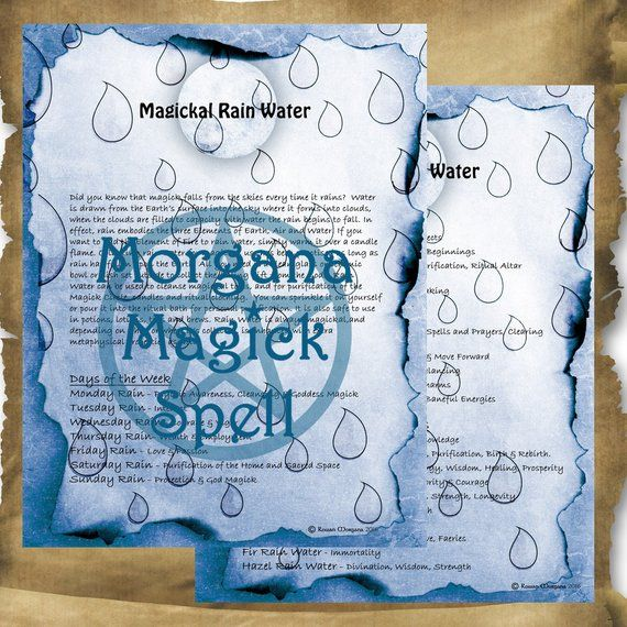 RAIN WATER MAGICK 2 Pages Instant Download