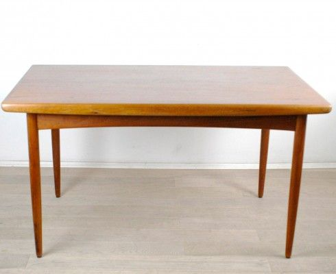 Danish Teak Extendable Dining Table From Dyrlund 1960s 1