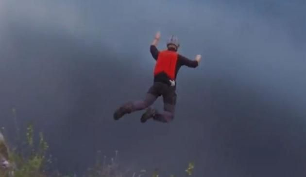 Watch This Guy Plummet Off A 1,000 Foot Cliff And Survive (Video)