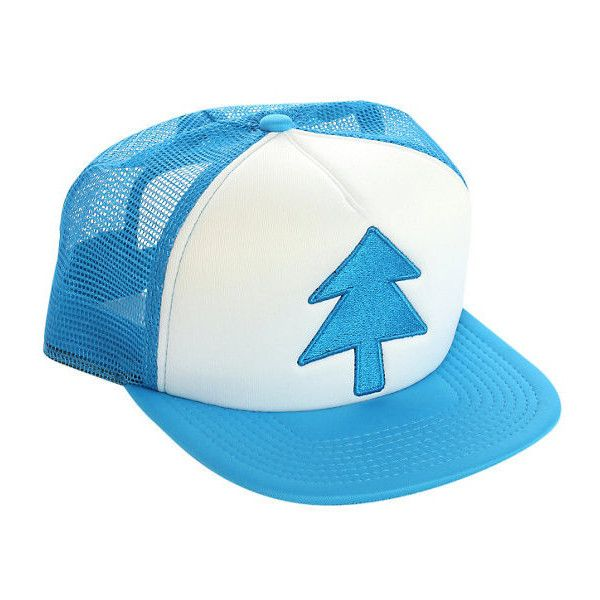 Gravity Falls Dipper Pines Truck Hat Hot Topic ❤ liked on Polyvore featuring accessories and hats