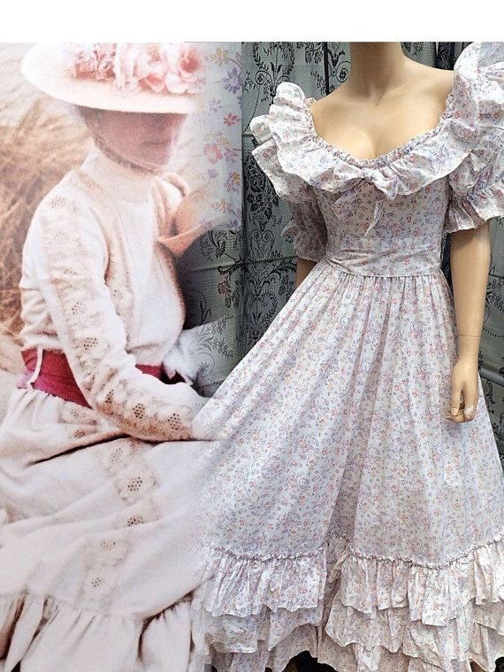 Rare Vintage Laura Ashley 80s Bridal Collection Gown White Floral Tiered Maxi Dress Uk 6 8 Us 2 4 Laura Ashley Vintage Dress Dresses Maxi Dresses Uk