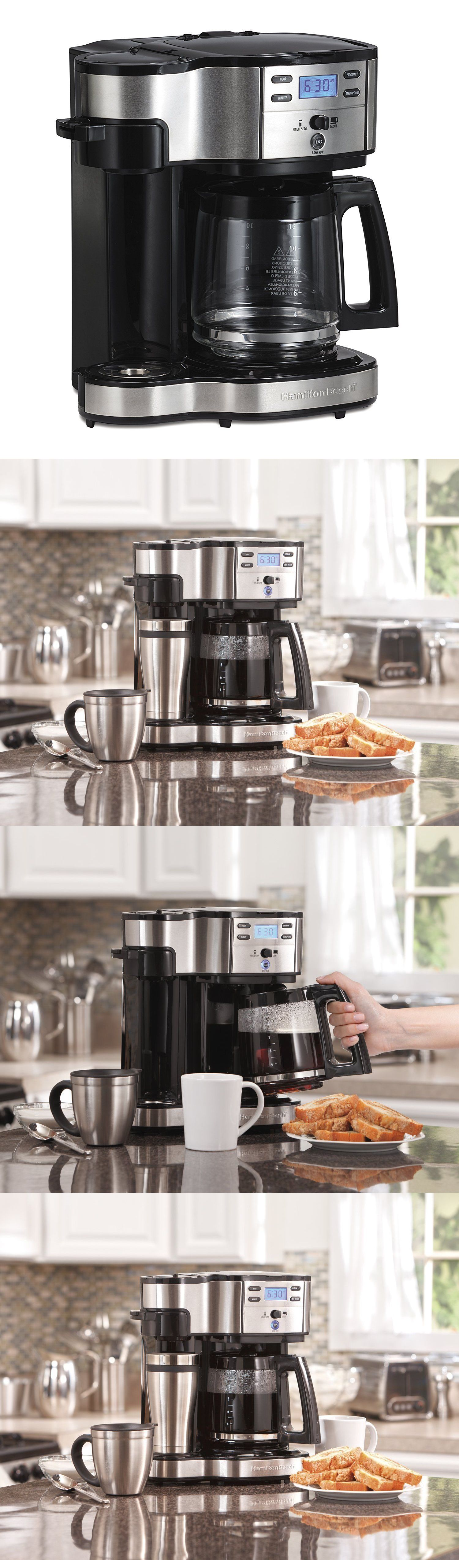 Filter Coffee Machines 184665 Hamilton Beach 49980a Single Serve