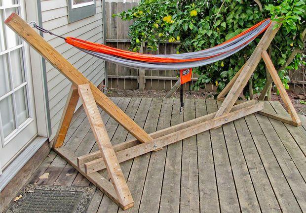 DIY Hammock Stand Diy hammock Hammock stand and Yards