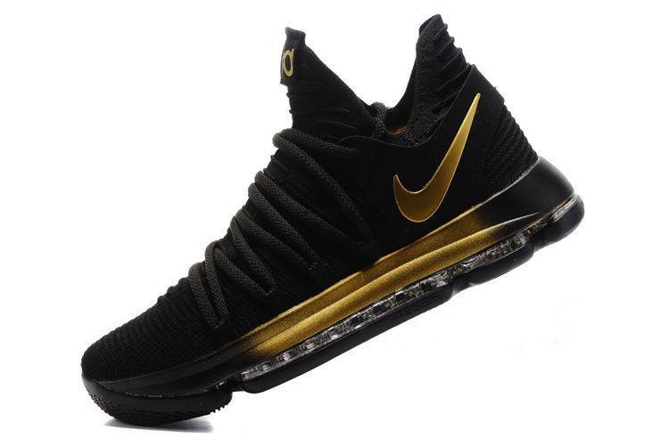 Nike KD 10 women shoes Black gold