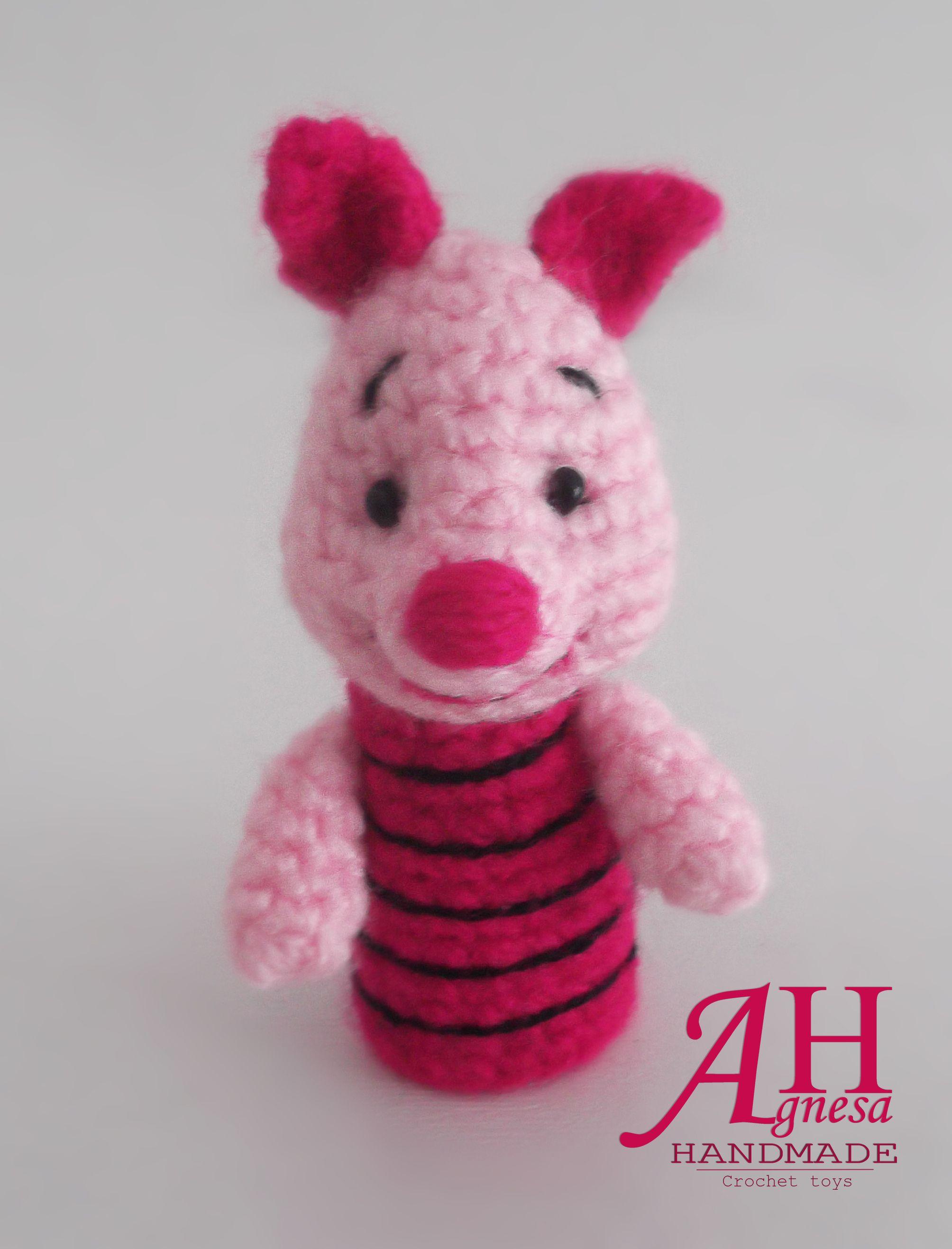 Crochet finger puppet PIGLET | Crochet | Pinterest | Marioneta y Bebe