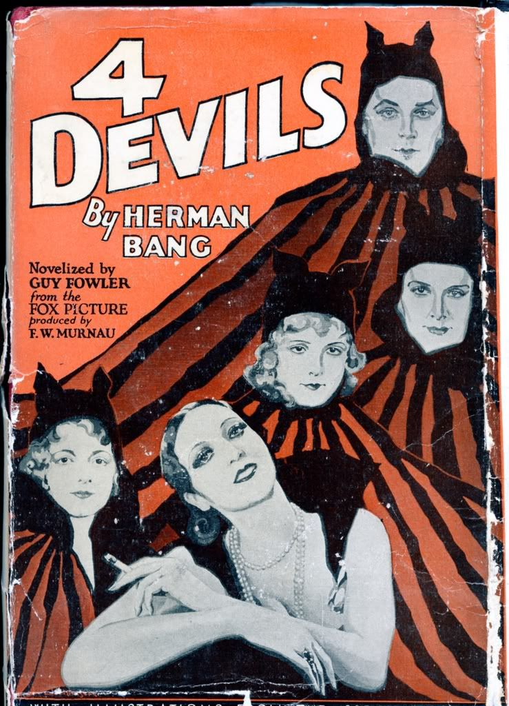 Theatrical poster for the 1928 silent film 4 Devils (aka Four - lost person poster