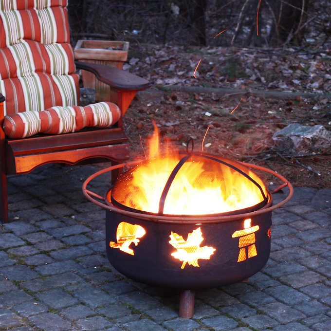 Great Canadian Fire Pit Living Room Decor Furniture Living Room