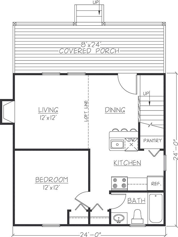 24x24 Floor Plan Cabin Floor Plans Cabin Plans With Loft Loft