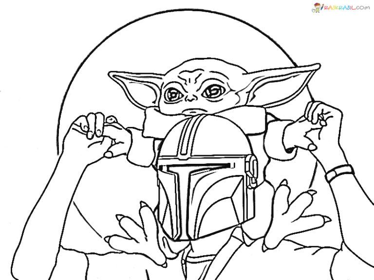 Coloring Pages Baby Yoda The Mandalorian And Baby Yoda Free Star Wars Coloring Book Coloring Pages Cute Coloring Pages