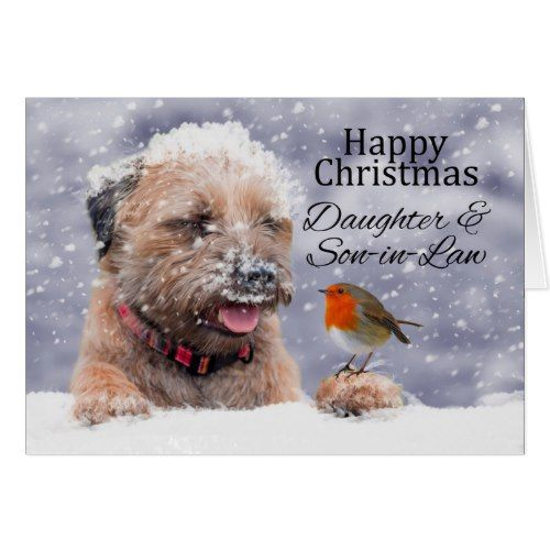 daughter  soninlaw christmas border terrier holiday