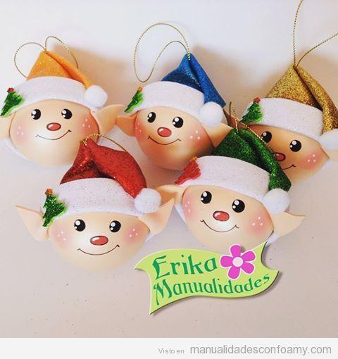 Decoraciones navidad goma eva foamy erika manualidades 5 - Decoracion navidad goma eva ...