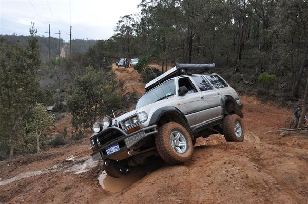 Nearly rolling an 80 series Land Cruiser